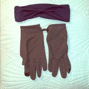 Running accessories gloves workout headband